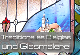 Traditionelles Bleiglas und Glasmalerei - Information